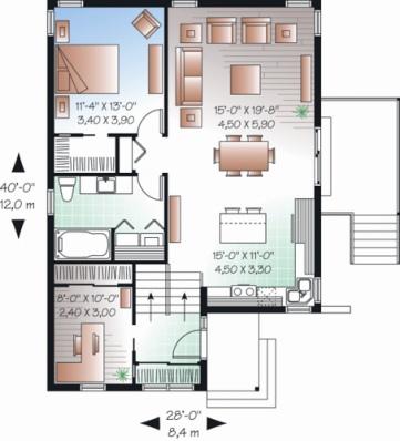 Desain Denah Rumah Minimalis Type 40  contoh gambar desain dan denah rumah minimalis cari rumah